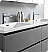 """Lazzaro 72"""" Gray Free Standing Double Sink Modern Bathroom Vanity with Medicine Cabinet, Faucet and Color Options"""