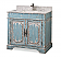 "Adelina 36"" Benton Collection Litchfield Distressed Rustic Light Blue Beach Style Bathroom Vanity"