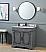 "Adelina 36"" Benton Collection Litchfield Rustic Gray Distressed Boho Bathroom Vanity"