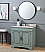"Adelina 36"" Benton Collection Litchfield Distressed Silver Blue Beach Style Bathroom Vanity"