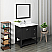 """Fresca Manchester 36"""" Black Traditional Bathroom Vanity with Mirror and Color Options"""