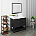 "Fresca Manchester 40"" Black Traditional Bathroom Vanity w/ Mirror"