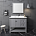 "Fresca Manchester 40"" Gray Traditional Bathroom Vanity w/ Mirror"
