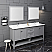 "Fresca Manchester 72"" Gray Traditional Double Sink Bathroom Vanity w/ Mirrors"