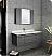 "Fresca Lucera 42"" Gray Wall Hung Undermount Sink Modern Bathroom Vanity with Medicine Cabinet"