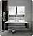 "Fresca Lucera 60"" Gray Wall Hung Double Vessel Sink Modern Bathroom Vanity with Medicine Cabinets"