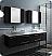 "Fresca Lucera 72"" Espresso Wall Hung Double Vessel Sink Modern Bathroom Vanity with Medicine Cabinets"