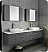 """Fresca Lucera 72"""" Gray Wall Hung Double Vessel Sink Modern Bathroom Vanity with Medicine Cabinets"""