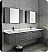 """Fresca Lucera 72"""" Gray Wall Hung Double Undermount Sink Modern Bathroom Vanity with Medicine Cabinets"""