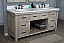 """72"""" Rustic Solid Fir Double Sink Vanity with Rectangular Sink and Carrara White Marble Top Beveled Edge - No Faucet"""