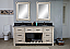 """72"""" Rustic Solid Fir Double Sink Vanity with Limestone Top - No Faucet"""