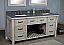 """72"""" Rustic Solid Fir Double Sink Vanity with Rectangular Sink Limestone Top - No Faucet"""