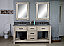 """72"""" Rustic Solid Fir Double Sink Vanity with Limestone Top and Rectangular Sink - No Faucet"""