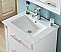"24"" Single Sink Bathroom Vanity in White Finish with Ceramic Top - No Faucet"