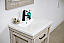 "24"" Rustic Solif Fir Single Sink Bathroom Vanity with Ceramic Top - No Faucet"