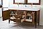 "James Martin Linear Collection 59"" Double Vanity, Mid Century Walnut Finish"