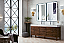 "James Martin Linear Collection 72"" Double Vanity, Mid Century Walnut Finish"