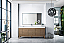 "James Martin Linear Collection 72"" Single Vanity, White Washed Walnut Finish"
