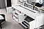 "James Martin Columbia Collection 72"" Double Vanity, Glossy White Finish"