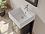 "18"" Solid Wood & Porcelain Single Vessel Sink Vanity Set with Polished Chrome Faucets"