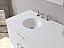 """72"""" Contemporary White Solid Wood and Porcelain Double Vanity Set"""
