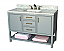 """49"""" Adelina Contemporary Style Single Sink Bathroom Vanity, White Italian Carrara Marble Countertop with Color Options"""