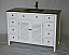 "48"" Adelina Cottage Style Single Sink Bathroom Vanity in Grey Finish with Tempered Glass Countertop"