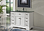 "46"" Adelina Contemporary Style Single Sink Bathroom Vanity in White Finish with Tempered Glass Countertop"
