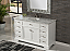 "56"" Adelina Contemporary Style Single Sink Bathroom Vanity Pure White Finish with White Italian Carrara Marble Countertop and Oval White Porcelain Sink"