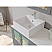 """63"""" Double Sink Bathroom Vanity Set in Gray Cabinet Finish with Polished Chrome Plumbing"""