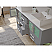 """71"""" Double Sink Bathroom Vanity Set in Gray Cabinet Finish with Polished Chrome Plumbing"""