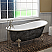 """Cambridge Scorched Platinum 67"""" x 30"""" Cast Iron Slipper Bathtub with """"7"""" Deck Mount Faucet Holes and Polished Chrome Ball and Claw Feet"""