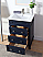 """24"""" Contemporary Single Sink Navy Blue Bathroom Vanity with White Ceramic Sink Top"""