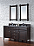 """James Martin Brittany Collection 60"""" Double Cabinet, Burnished Mahogany"""