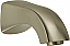Bath Spout in Brushed Nickel