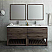 "Fresca Formosa 72"" Floor Standing Double Sink Modern Bathroom Vanity w/ Open Bottom & Mirrors"