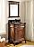 """24"""" Classic Petite Powder Room Debellis Bathroom Sink Vanity & Mirror Set"""