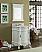 """24"""" Classic Petite Powder Room Debellis Bathroom Sink Vanity w/ Mirror"""