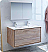 "Fresca Catania 48"" Rustic Natural Wood Wall Hung Double Sink Modern Bathroom Vanity with Medicine Cabinet and Faucet Options"