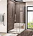 Fleurco Platinum Cube Shower Door with Return Panel and Wall Mount Hinges
