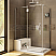 leurco Platinum 2 Sided Door and Panel with Return Panel and Glass to Glass Hinges