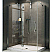 Fleurco Platinum In-Line Door and Fixed Panel with Return Panel, Glass to Glass Hinges and Support Bar System