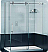 Fleurco Kinetik in Line Sliding Door and Panel with Return Panel (Two Sided)