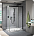 Fleurco Nova Apollo 2-Sided In-Line 72 Sliding Door and Fixed Panel with Return Panel (Closes against return panel)