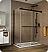 Fleurco Gemini Frameless Bypass 48 Sliding Shower Doors with Return Panel