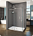 Fleurco KN Kinetik In-Line 72 Sliding Shower Door and Fixed Panel with Return Panel (Closes against return panel)
