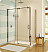 "Fleurco Luxe Glide 69"" In-Line Sliding Shower Door and Fixed Panel with Return Panel"