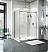 Fleurco Kinetik 2-Sided In-Line 48 Shower Door and Fixed Panel with Return Panel (Closes Against Wall)