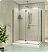 Fleurco Platinum Pura 2 Sided 48 Door and Fixed Panel with Return Panel and Glass to Glass Hinges