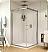 Fleurco Banyo Shuttle Square 32 Semi Frameless Corner Entry Sliding Doors